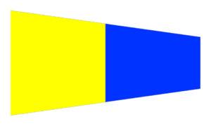 bandiera numero 5 alfabeto nautico