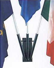 Porta bandiera 3 posti