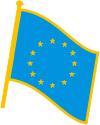 Bandiera da giacca Europa