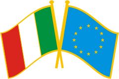 Bandiera da giacca Italia Europa