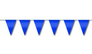 Festone di bandiere azzurro