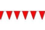 Festone di bandiere rosso