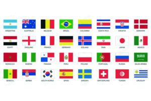 Kit bandiere mondiali calcio 2018