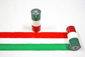 Nastro italia tricolore pvc