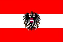 Bandiera Austria con aquila