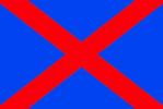 Bandiera blu croce rossa